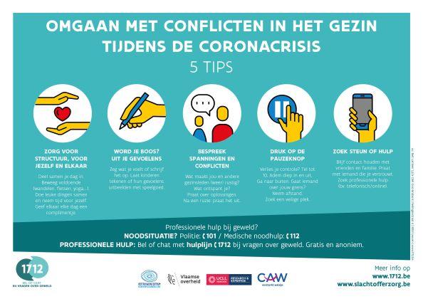 poster omgaan met conflicten tijdens de coronacrisis: 5 tips